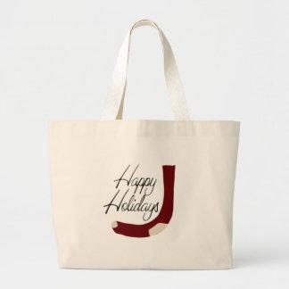 Boas festas armazenando bolsas