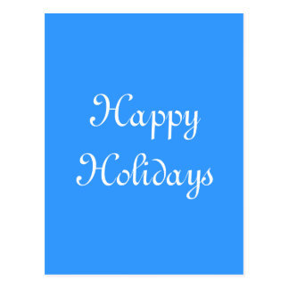 Boas festas. Azul e branco. Festivo Cartao Postal