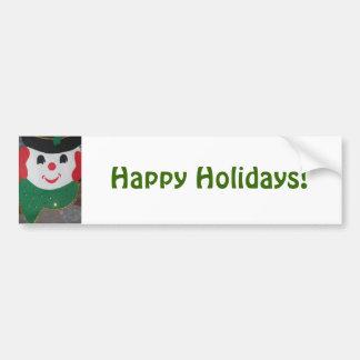 Boas festas boneco de neve do Natal Adesivo Para Carro