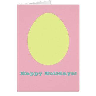 Boas festas cartão amarelo do ovo