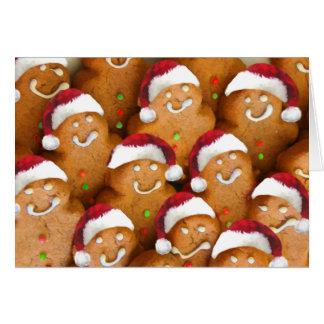 Boas festas cartão bonito do biscoito