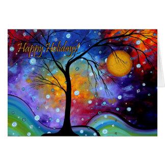 Boas festas cartão colorido MADART da arte