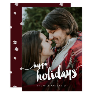 Boas festas cartão com fotos