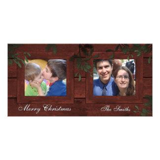 Boas festas cartão com fotos da família 2 - o