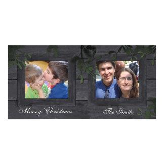 Boas festas cartão com fotos da família 2 - o cartão com foto