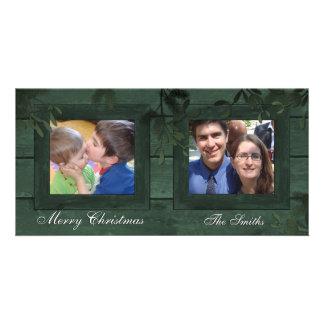 Boas festas cartão com fotos da família 2 - o cons
