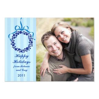 Boas festas cartão com fotos da grinalda convite