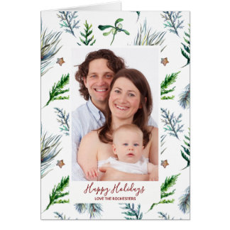 boas festas cartão com fotos do feriado do Natal