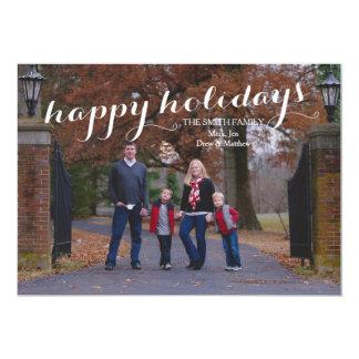 Boas festas cartão com fotos feito sob encomenda convite 12.7 x 17.78cm