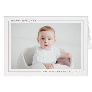 Boas festas cartão com fotos moderno elegante