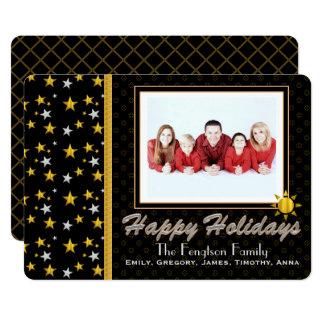 Boas festas cartão com fotos personalizado