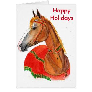 Boas festas! cartão comemorativo