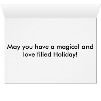 Boas festas cartão comemorativo
