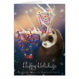 Boas festas cartão da doninha