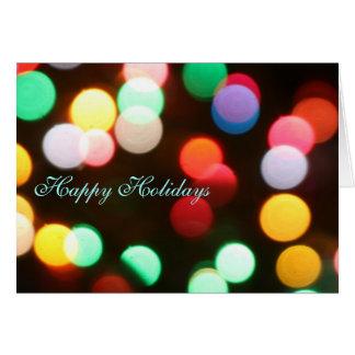 Boas festas cartão das luzes de Natal