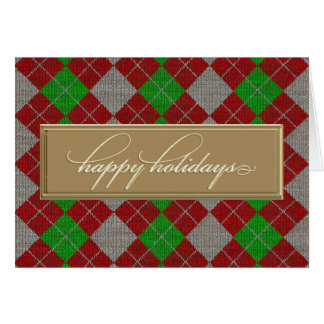 Boas festas cartão de Argyle