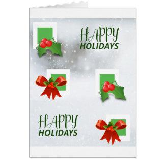 Boas festas cartão de cumprimentos