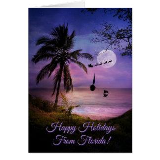 Boas festas cartão de Florida tropical