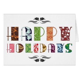 Boas festas cartão de Natal