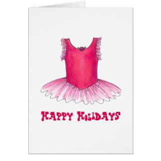 Boas festas cartão de Natal do balé do professor