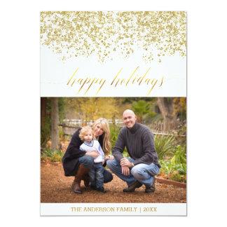 Boas festas cartão de Natal do brilho Convite 12.7 X 17.78cm