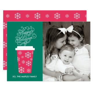 Boas festas cartão de Natal do café Convite 12.7 X 17.78cm