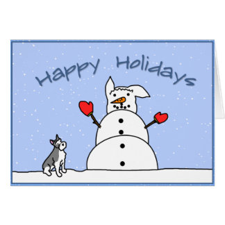 Boas festas cartão de Natal do Schnauzer