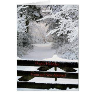 Boas festas - cartão de Natal novo do endereço