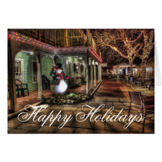 Boas festas cartão de Natal urbano das luzes do