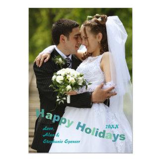 Boas festas cartão do feriado da fotografia convites personalizados