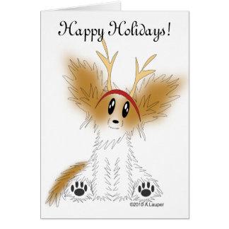 Boas festas cartão do filhote de cachorro de