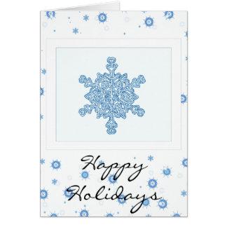 Boas festas cartão do floco de neve
