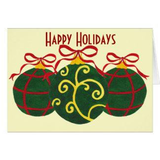 Boas festas - cartão dos enfeites de natal