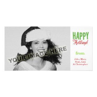 Boas festas cartao com foto personalizado
