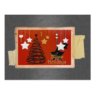 Boas festas cartão postal