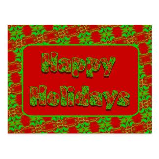 Boas festas cartões postais