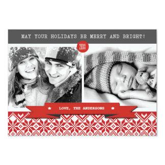 Boas festas. Cartões de foto de Natal feitos sob Convite