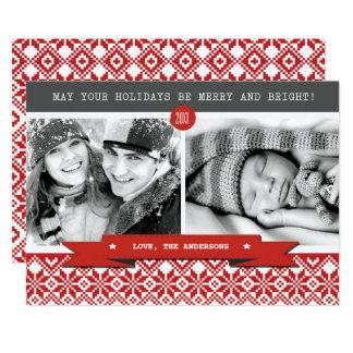 Boas festas. Cartões de foto de Natal feitos sob Convite 12.7 X 17.78cm