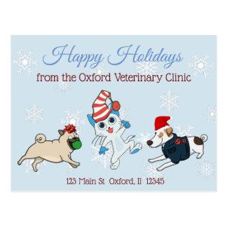 Boas festas cartões de Natal do negócio do animal