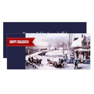 Boas festas. Cartões de Natal lisos customizáveis