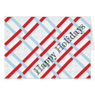 Boas festas cartões envolvidos presente