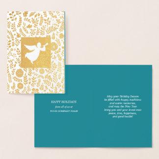 Boas festas cartões incorporados feitos sob