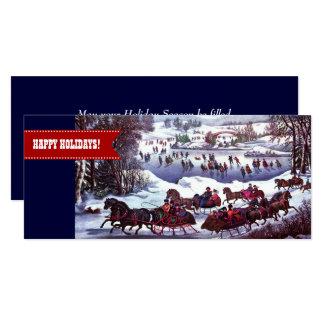 Boas festas. Cartões lisos do Natal customizável