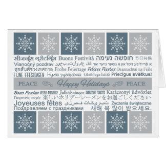 Boas festas cartões multilingues