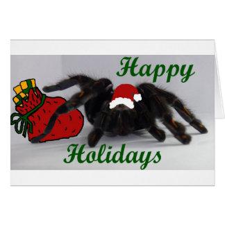 Boas festas! … com um Tarantula? Cartão