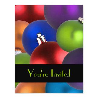 Boas festas convite 10.79 x 13.97cm