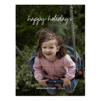 Boas festas desejos do feriado da foto do Natal Cartões Postais