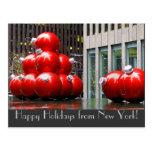 Boas festas do cartão de New York Cartão Postal