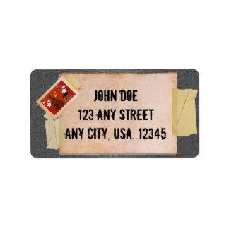 Boas festas etiqueta de endereço