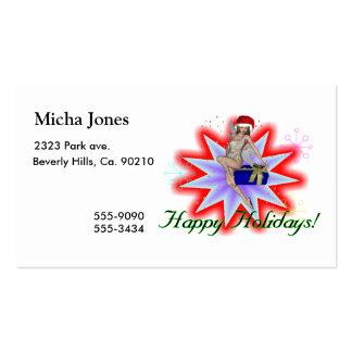 Boas festas fada modelos cartão de visita
